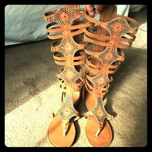Cute Gladiator Sandals with rhinestone details